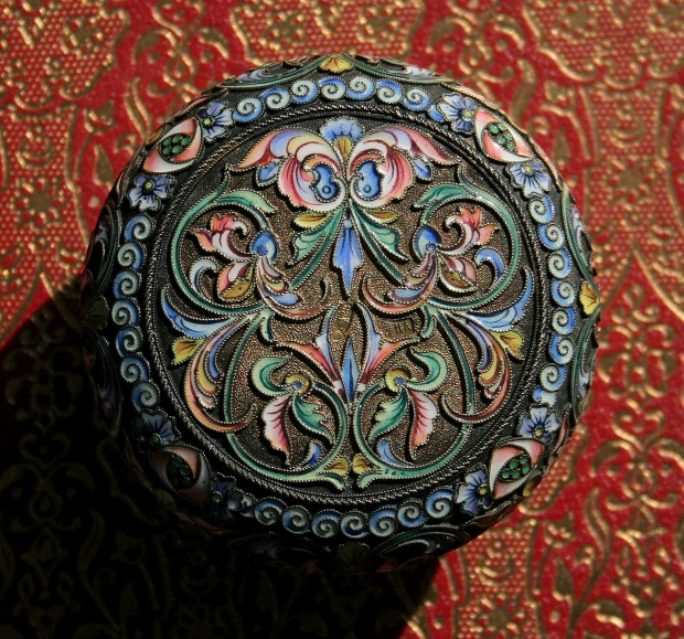 Russian Cloisonne Box, bottom