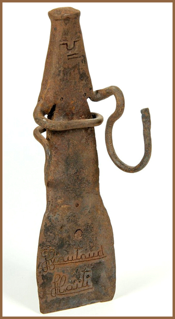 "Georges Liautaud (Haitian/Croix des Bouquets, 20th c.) Untitled Vodou Spirit Forged iron, 10.5"" x 3"" x 8"" Jonathan Demme Collection"