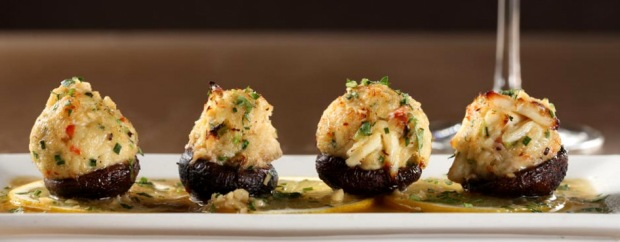 Morrell Wine Bar, stuffed mushrooms