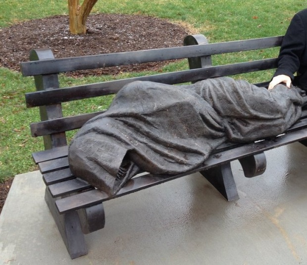 Sculpture: Jesus the Homeless