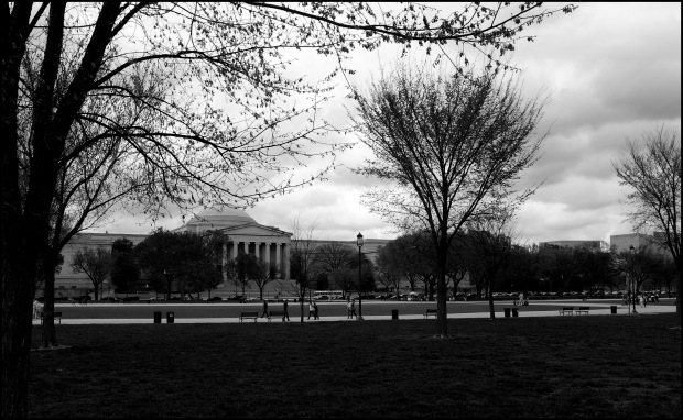 Black and white photograph, Stormy Day - of the National Gallery of Art