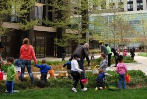 Easter Egg Hunt, Charles Plaza, Baltimore 2013