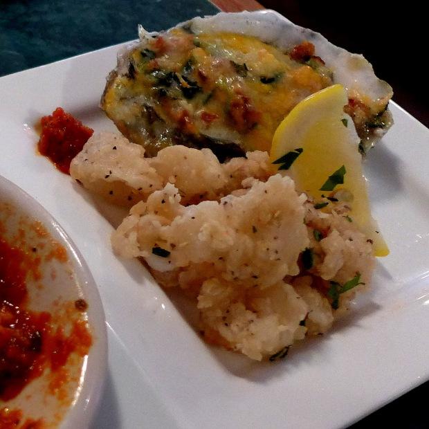 Calamari, Oysters Rockefeller, Long Island Iced Teas