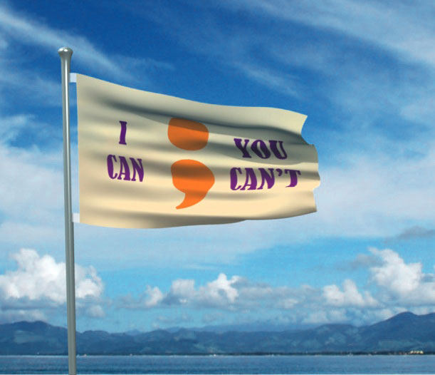 The Brockelman Semicolon Flag