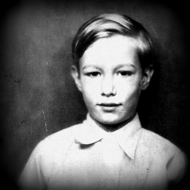 Andy Warhol as a boy