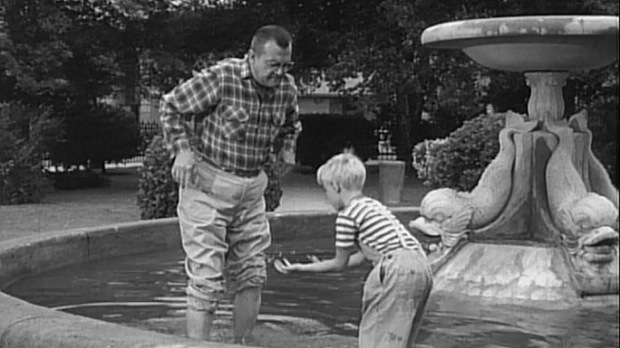 Warner Bros Ranch fountain, Dennis the Menace, TV