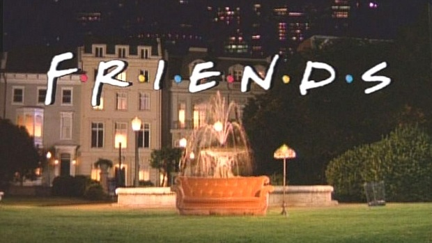 Warner Bros Ranch fountain, Friends, TV