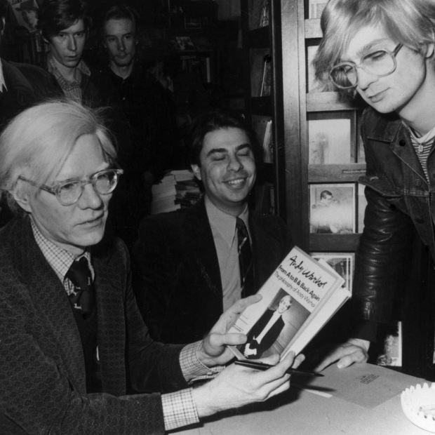 Warhol book signing