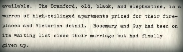 Clip from script of Rosemary's Baby