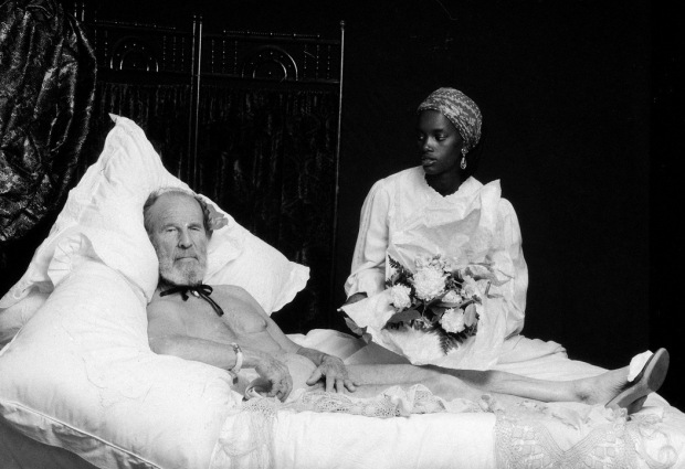 Nancy Ellison, VIPS: Hume Cronyn (As Manet's Olympia), Date Unknown 30 x 40 in. (76.2 x 101.6 cm) Archival pigment print on Canson Platine Fine Art paper. Edition of 12. Signed and numbered.