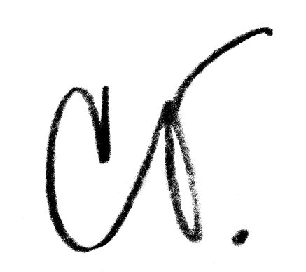 Claes Oldenburg, short signature