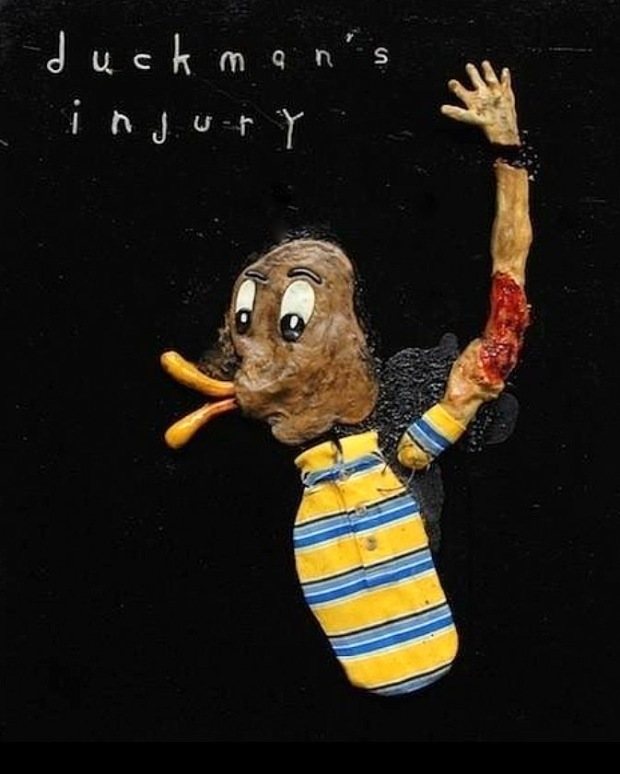 Duckman's Injury, mixed-media, David Lynch