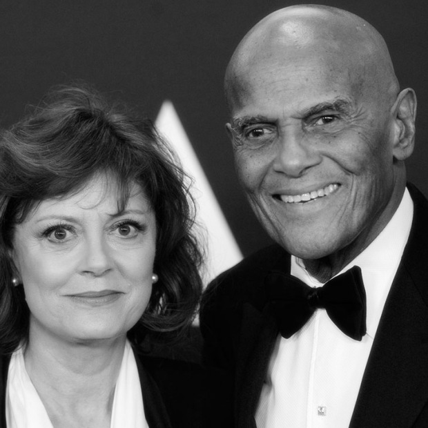Susan Sarandon, Harry Belafonte, Photo courtesy Chris Pizzello, AP