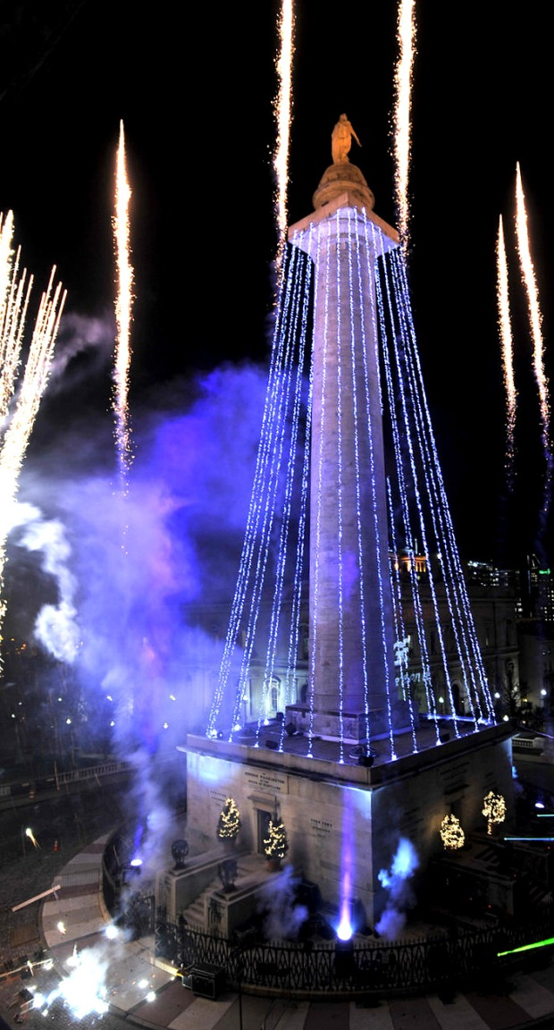 A Monumental Occasion—aka: the Washington Monument lighting. Photo courtesy Amy Davis, Baltimore Sun