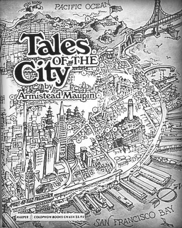 Tales of the City, US 1st edition cover – original in color