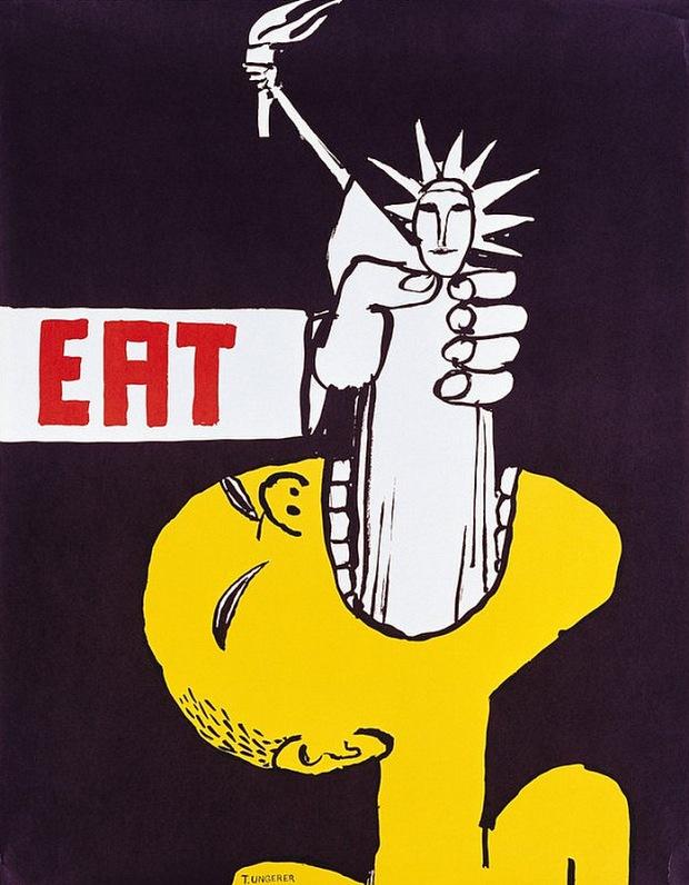 Tomi Ungerer's anti-vietnam war poster