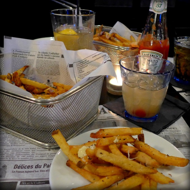 Truffle fries at Lord Baltimore Hotel