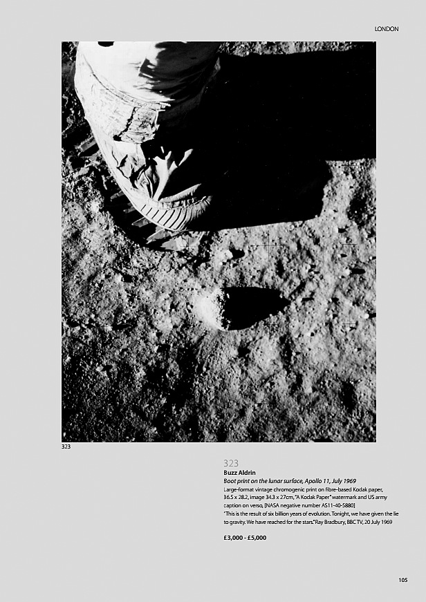 Buzz Aldrin Boot print on the lunar surface, Apollo 11, July 1969