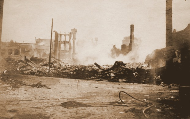Baltimore Fire 1904, Hopkins Place in Ruins