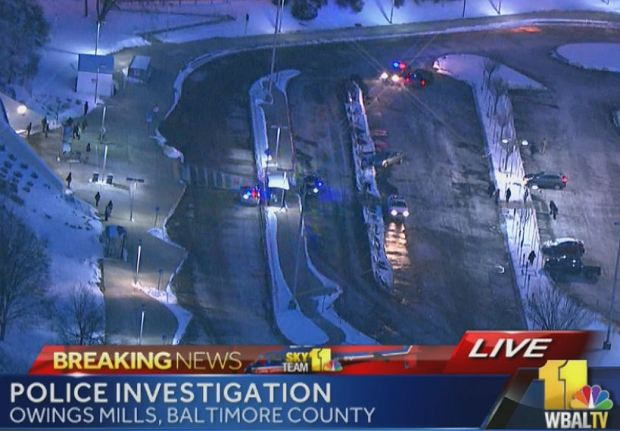 WBAL TV screen capture of the scene