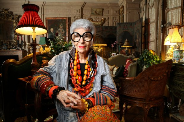 Iris Apfel, at home in her skin