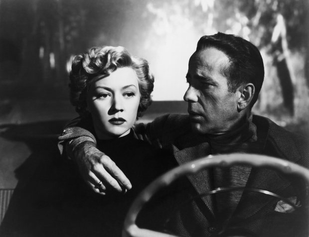 Gloria Grahame and Humphrey Bogart