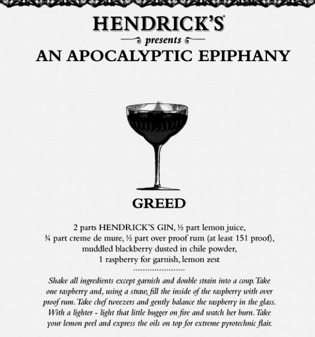 Hendrick's Gin, Greed Cocktail