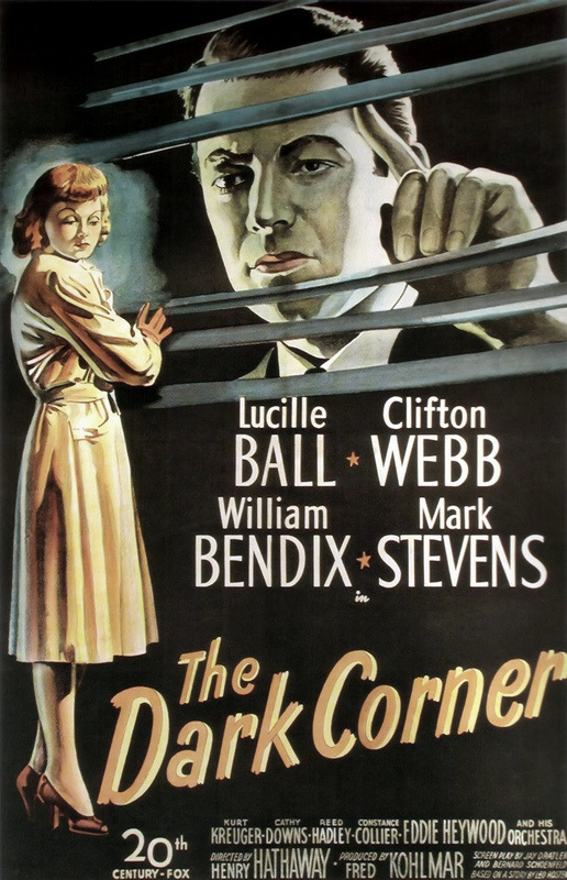 The Dark Corner Twentieth Century-Fox, 1946. One sheet poster, linen-backed, framed. 27 x 41 in.
