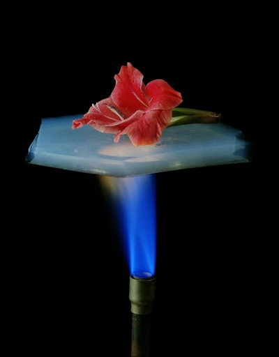 NASA photo, Aerogel