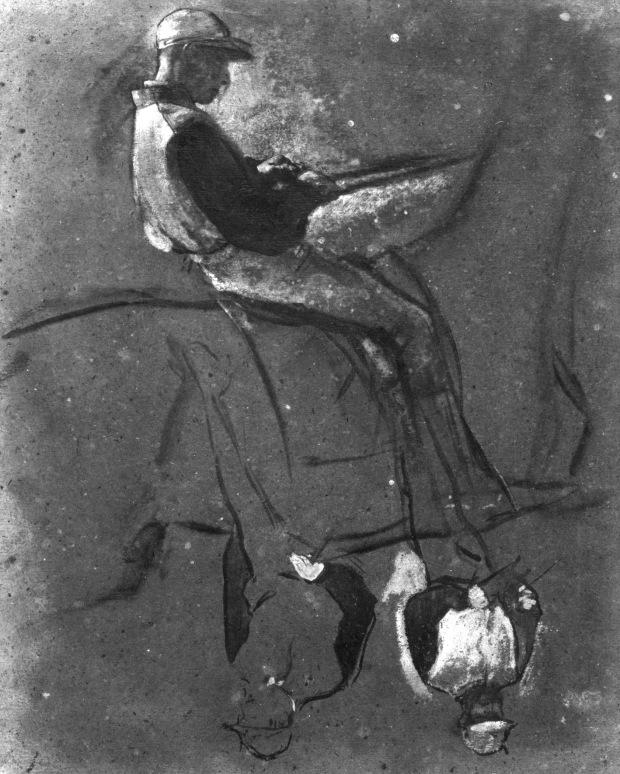 9. Degas, THREE MOUNTED JOCKEYS