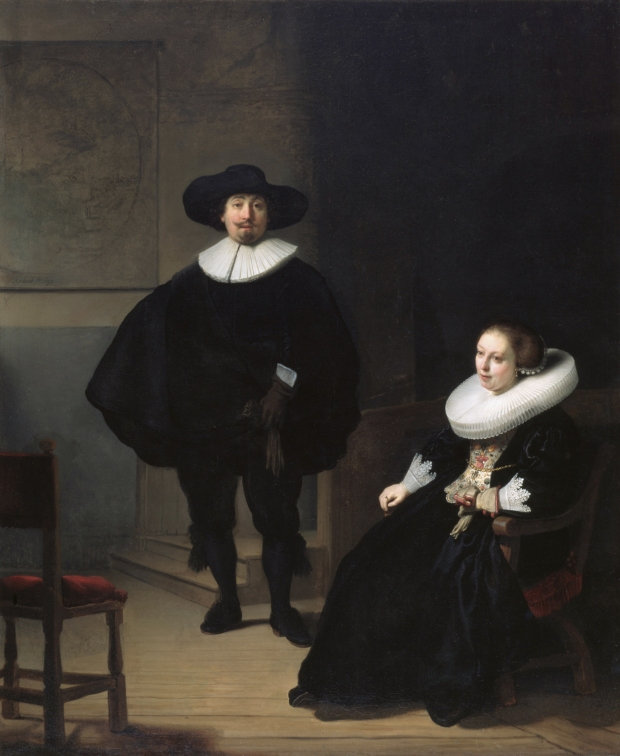 2. Rembrandt, A LADY AND GENTLEMAN IN BLACK