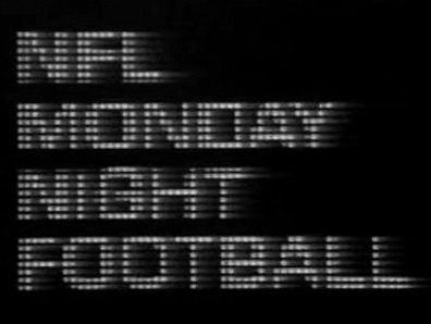 1st Title Graphic, Monday Night Football, 1970