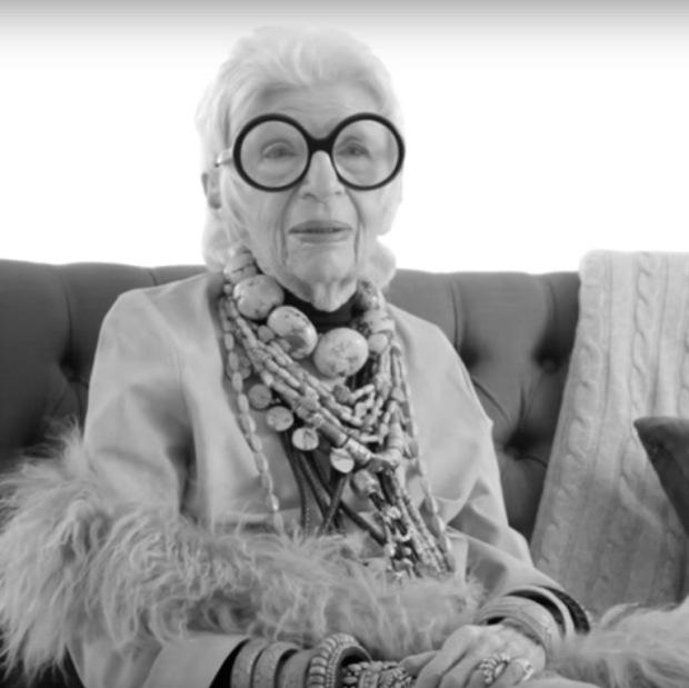 Iris Apfel. Wisdom aged like a fine wine.