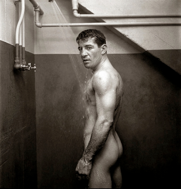 Rocky Graziano, photo by Stanley Kubrick circa 1950.