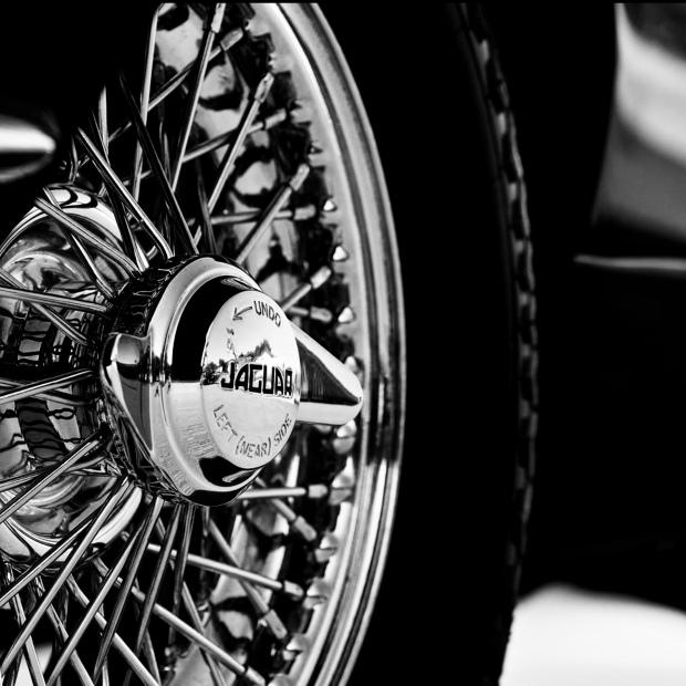 Bobby Darin's Jaguar, detail