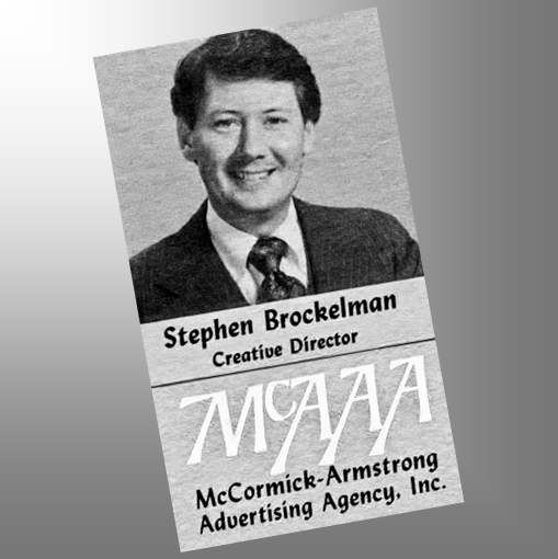 Stephen Brockelman, vintage business card, 1980s, Wichita, Kansas