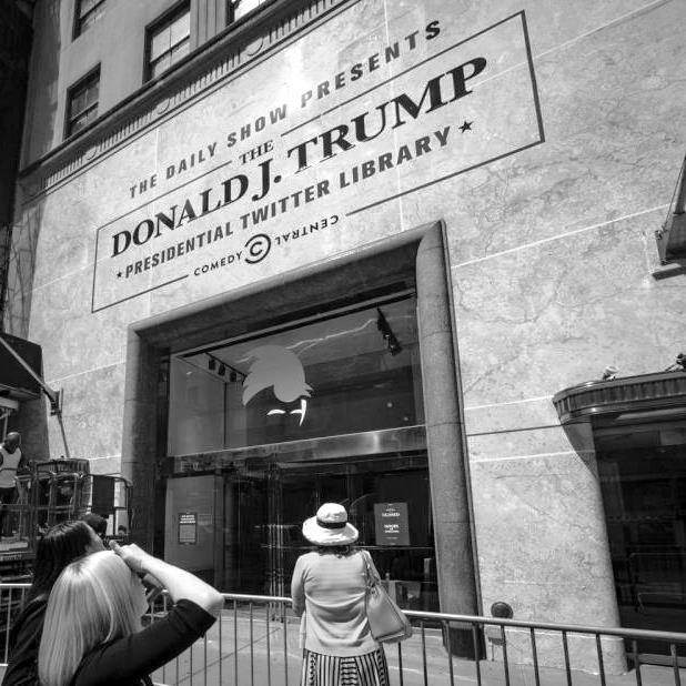 Trump Presidential Twitter Library - Photo courtesy: Anthony DelMundo/New York Daily News