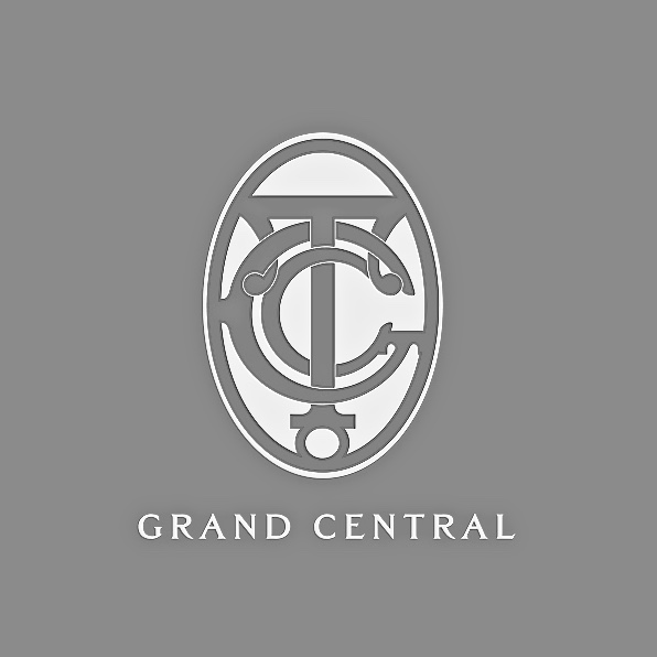 Early Grand Central Terminal logo in black and white