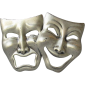 comedy tragedy mask transparent