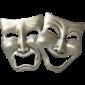 comedy tragedy mask transparent