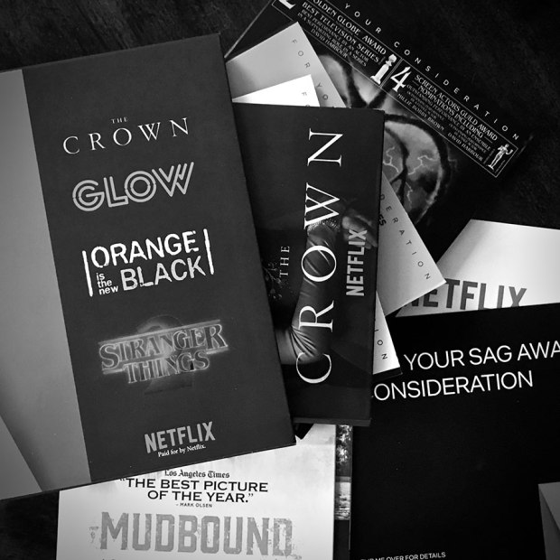 Netflix Award Season Screeners SAG Awards Academy Awards
