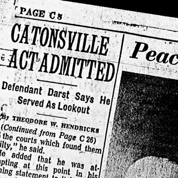 Newspaper report on the Catonsville 9