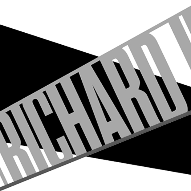 Logo black and white for Richard II - Public Theatre